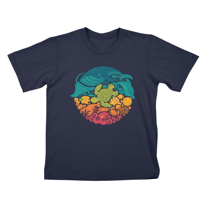 Aquatic Rainbow Kids T-shirt by Waynem