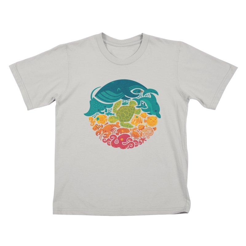 Aquatic Rainbow Kids T-shirt by Waynem