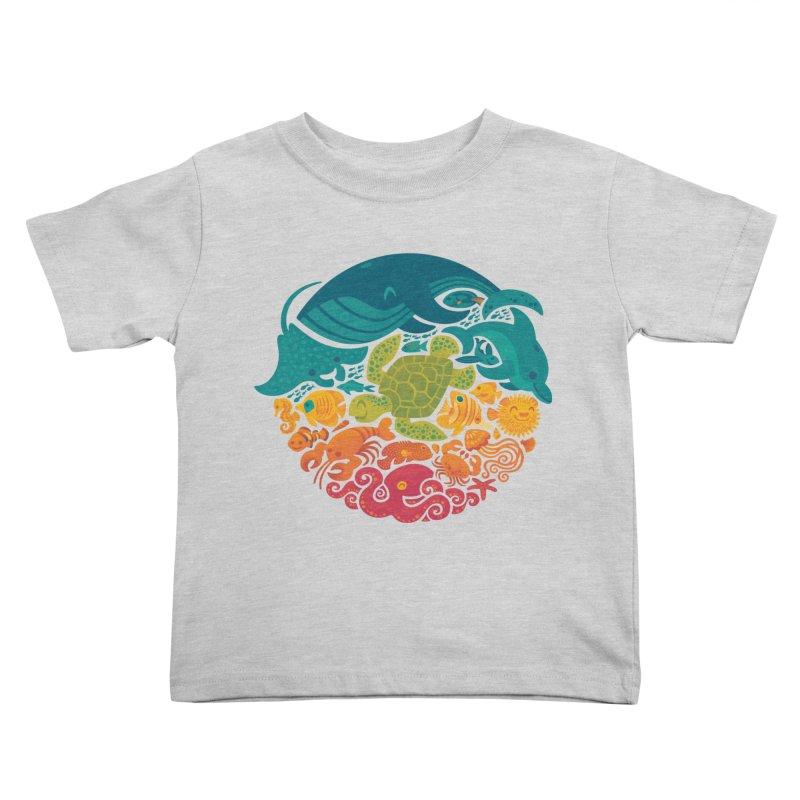 Aquatic Rainbow Kids Toddler T-Shirt by Waynem