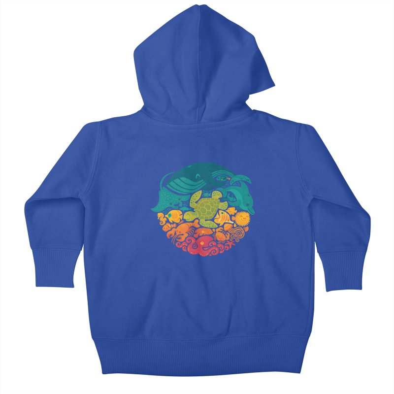 Aquatic Rainbow Kids Baby Zip-Up Hoody by Waynem