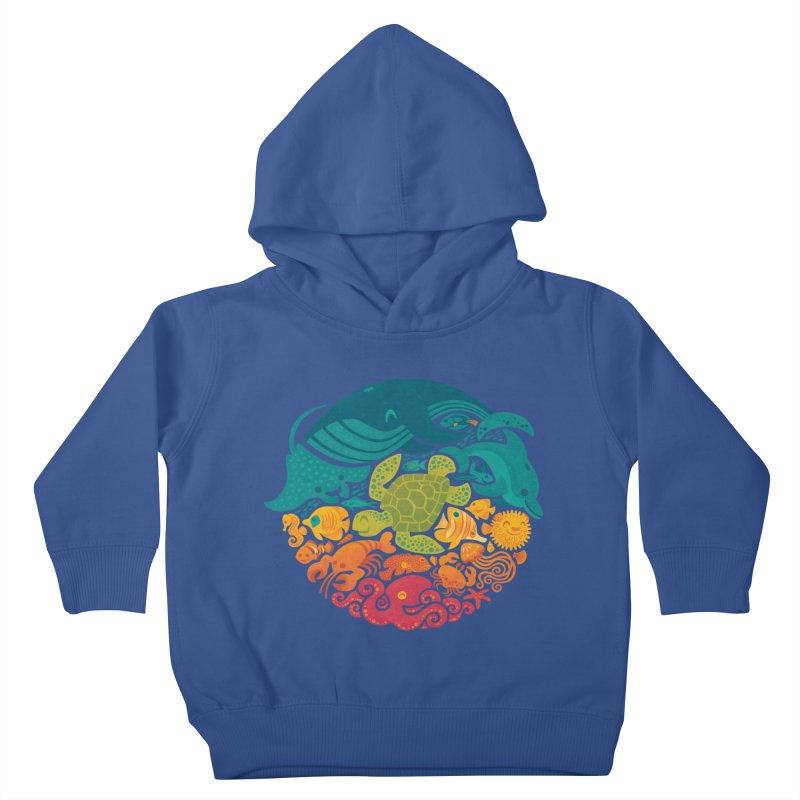Aquatic Rainbow Kids Toddler Pullover Hoody by Waynem