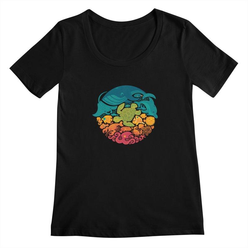 Aquatic Rainbow Women's Scoopneck by Waynem
