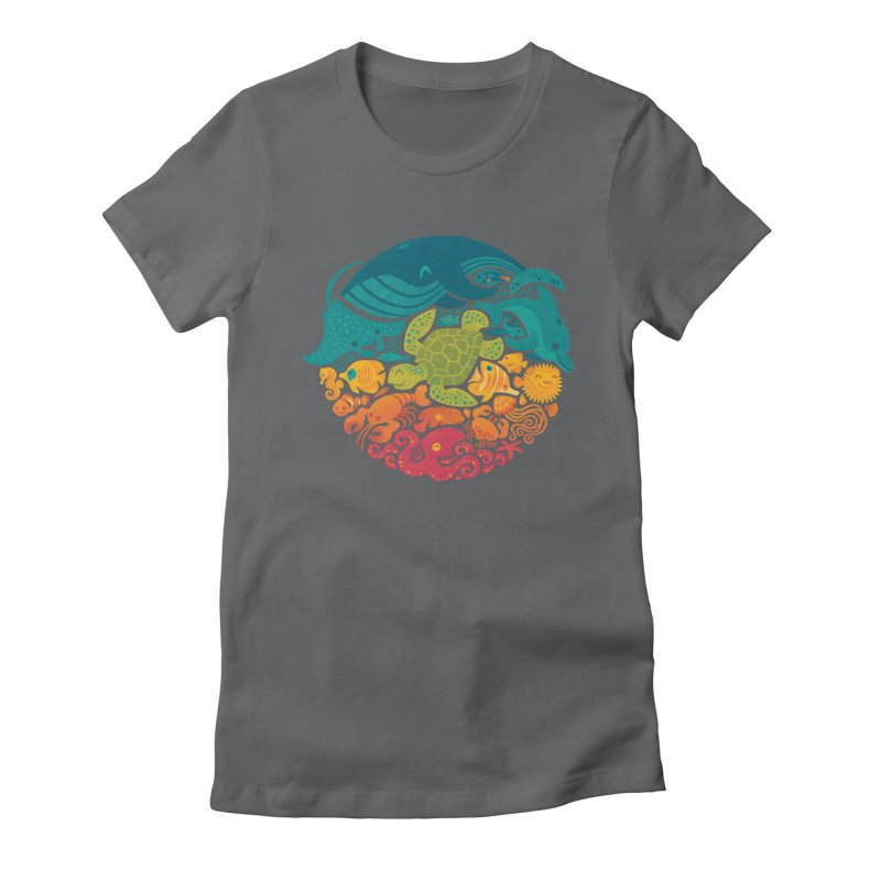 Aquatic Rainbow Women's Fitted T-Shirt by Waynem