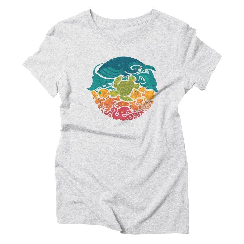Aquatic Rainbow Women's Triblend T-shirt by Waynem