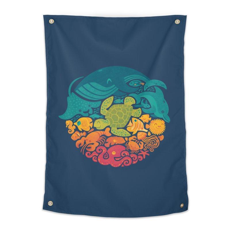 Aquatic Rainbow Home Tapestry by Waynem