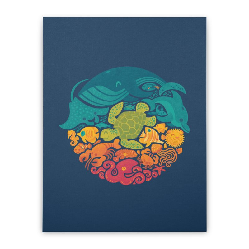 Aquatic Rainbow Home Stretched Canvas by Waynem