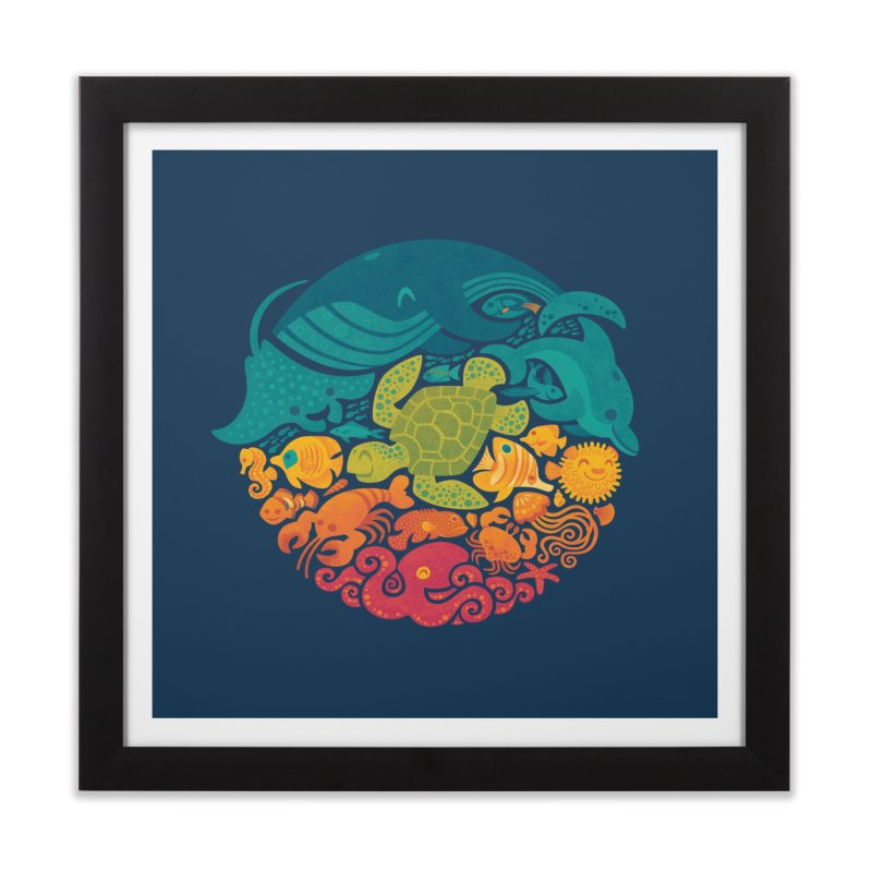 Aquatic Rainbow Home Framed Fine Art Print by Waynem