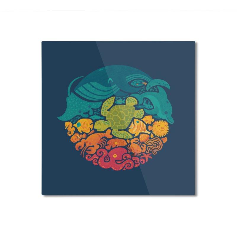 Aquatic Rainbow Home Mounted Aluminum Print by Waynem