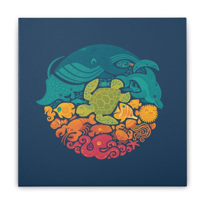 Aquatic Rainbow Home Stretched Canvas by Waynem