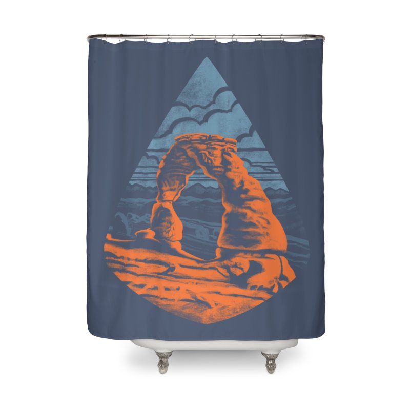 Delicate Arch Home Shower Curtain by Waynem