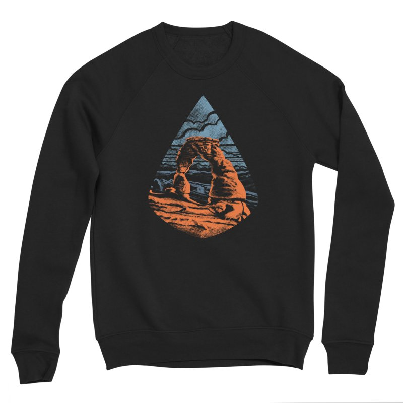 Delicate Arch Men's Sponge Fleece Sweatshirt by Waynem