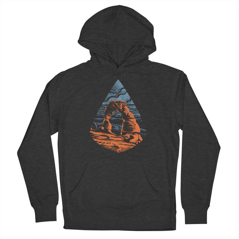 Delicate Arch Men's French Terry Pullover Hoody by Waynem