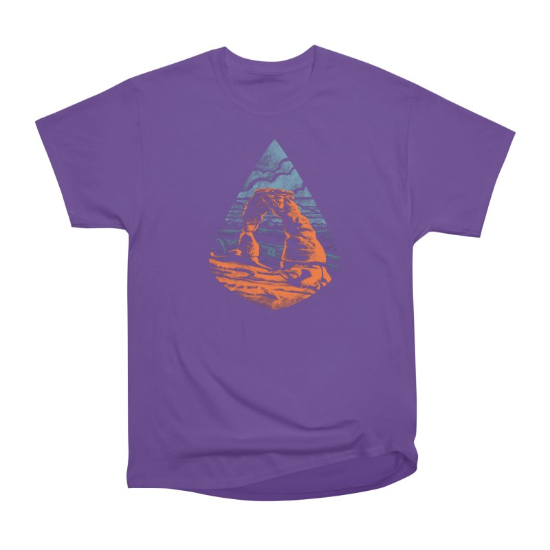 Delicate Arch Men's Heavyweight T-Shirt by Waynem