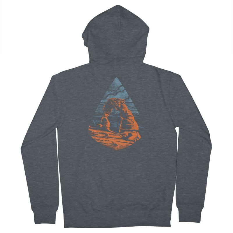 Delicate Arch Women's French Terry Zip-Up Hoody by Waynem
