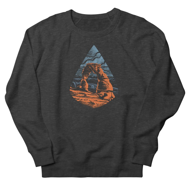 Delicate Arch Men's French Terry Sweatshirt by Waynem
