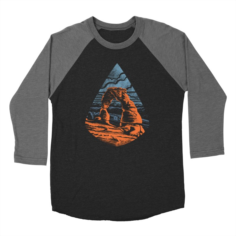 Delicate Arch Men's Baseball Triblend T-Shirt by Waynem