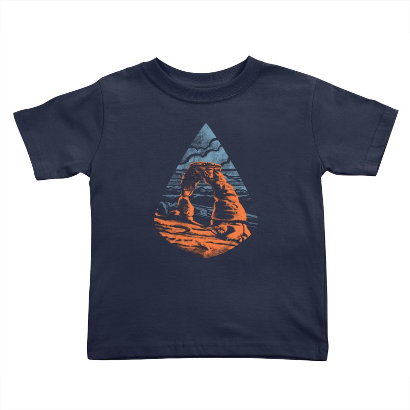 Delicate Arch Kids Toddler T-Shirt by Waynem