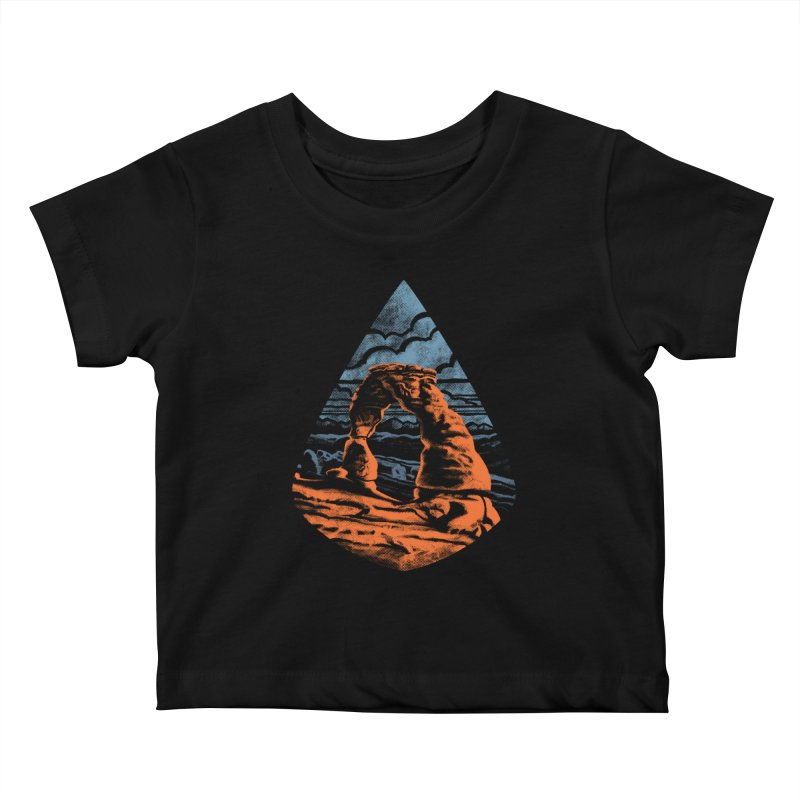 Delicate Arch Kids Baby T-Shirt by Waynem