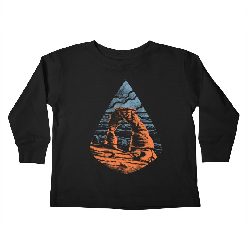 Delicate Arch Kids Toddler Longsleeve T-Shirt by Waynem