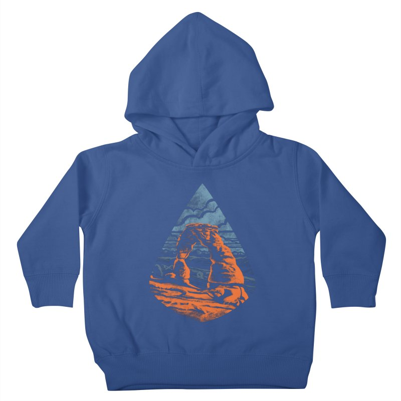 Delicate Arch Kids Toddler Pullover Hoody by Waynem