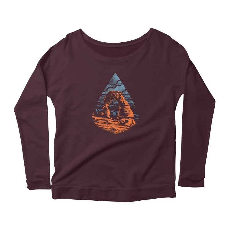 Delicate Arch Women's Scoop Neck Longsleeve T-Shirt by Waynem