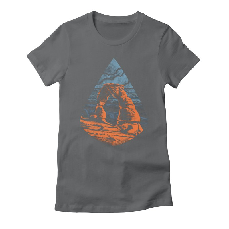 Delicate Arch Women's Fitted T-Shirt by Waynem