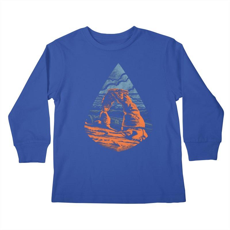 Delicate Arch Kids Longsleeve T-Shirt by Waynem