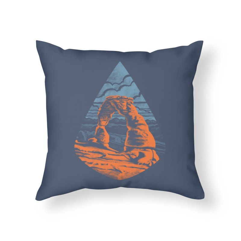 Delicate Arch Home Throw Pillow by Waynem
