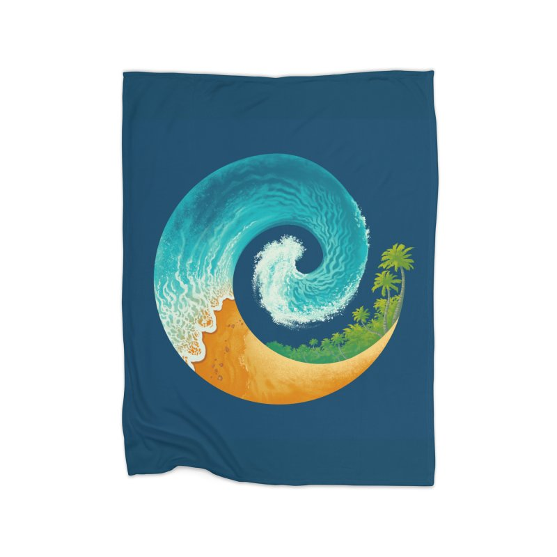 Spiral Beach Home Blanket by Waynem