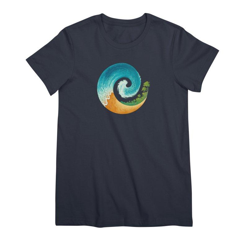 Spiral Beach Women's Premium T-Shirt by Waynem