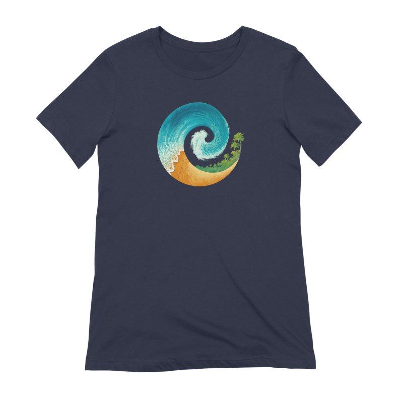 Spiral Beach Women's Extra Soft T-Shirt by Waynem