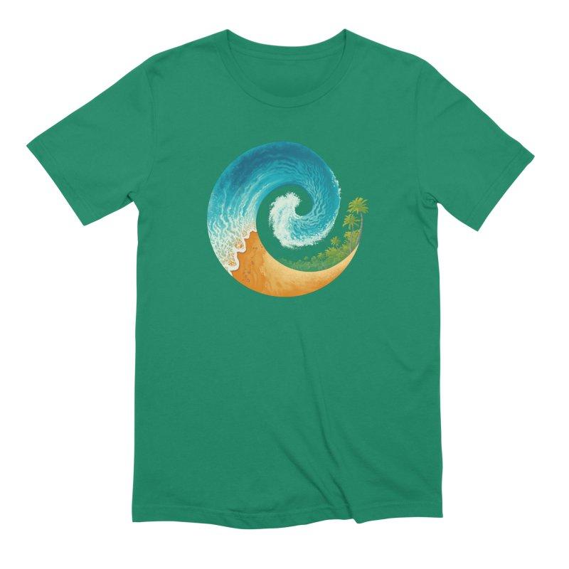 Spiral Beach Men's Extra Soft T-Shirt by Waynem