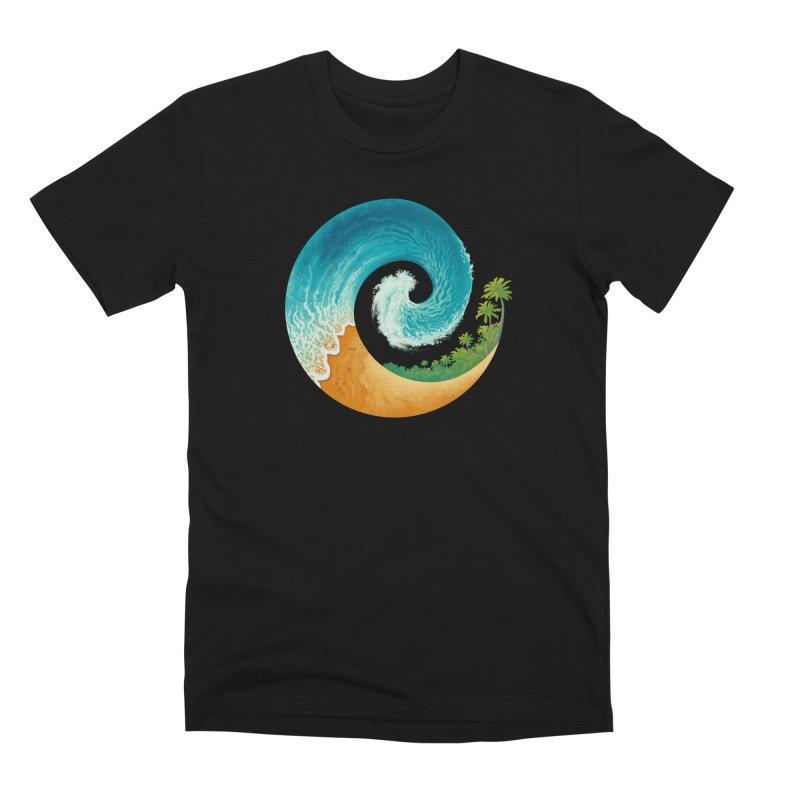 Spiral Beach Men's T-Shirt by Waynem