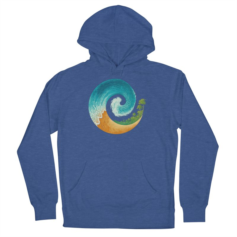 Spiral Beach Women's French Terry Pullover Hoody by Waynem