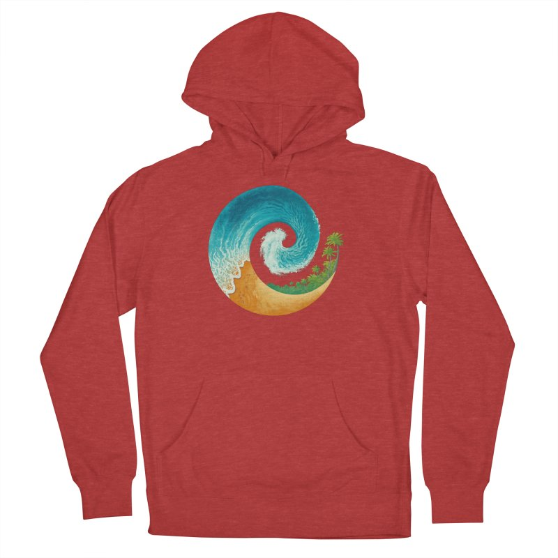 Spiral Beach Men's French Terry Pullover Hoody by Waynem