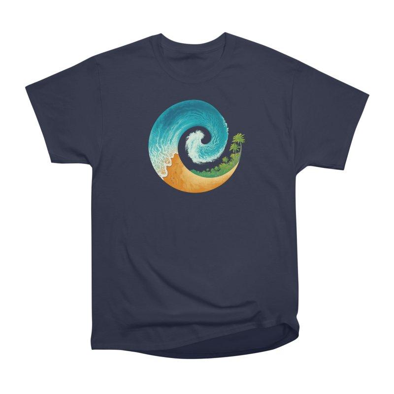 Spiral Beach Men's Heavyweight T-Shirt by Waynem