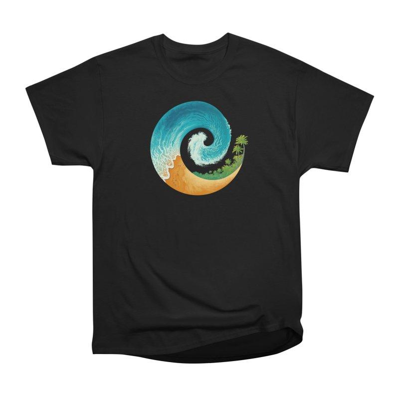 Spiral Beach Women's Heavyweight Unisex T-Shirt by Waynem