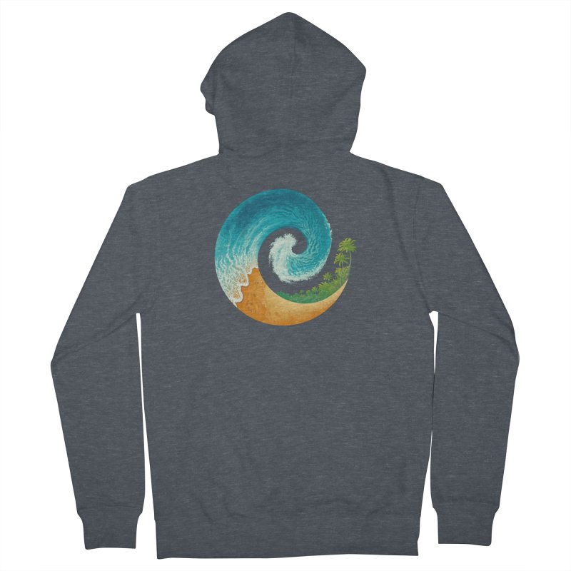 Spiral Beach Men's French Terry Zip-Up Hoody by Waynem