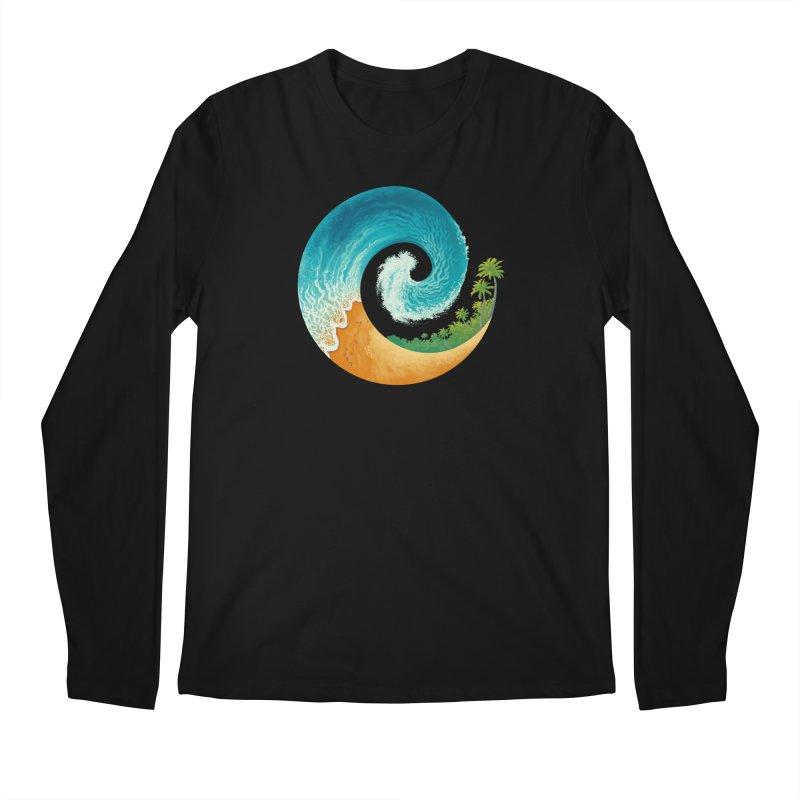 Spiral Beach Men's Regular Longsleeve T-Shirt by Waynem