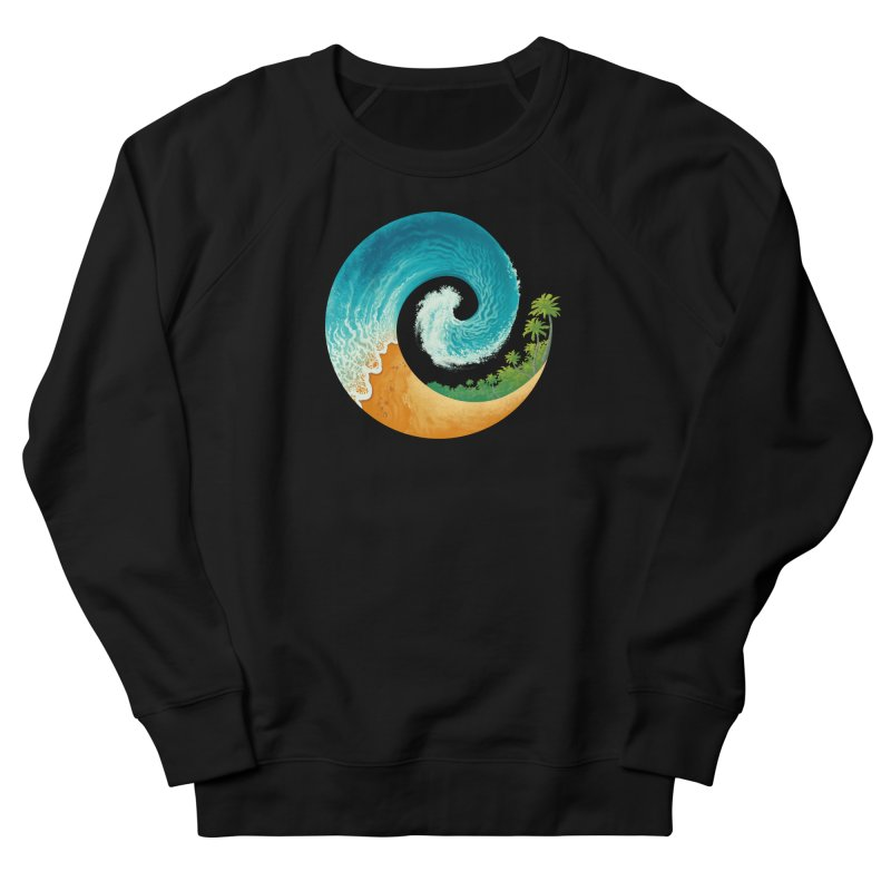 Spiral Beach Men's French Terry Sweatshirt by Waynem