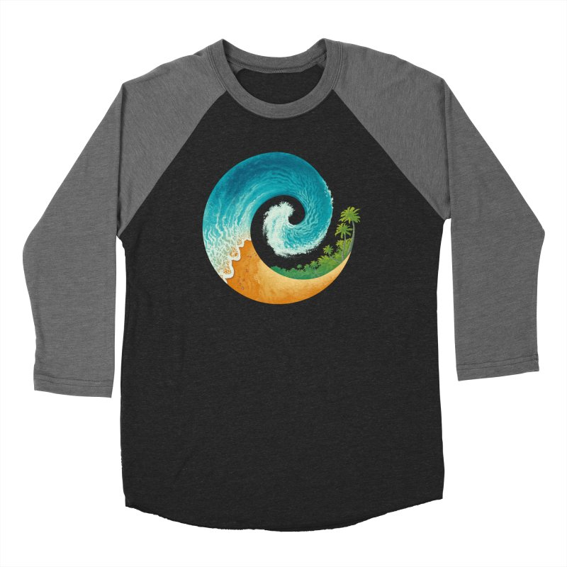 Spiral Beach Women's Baseball Triblend Longsleeve T-Shirt by Waynem