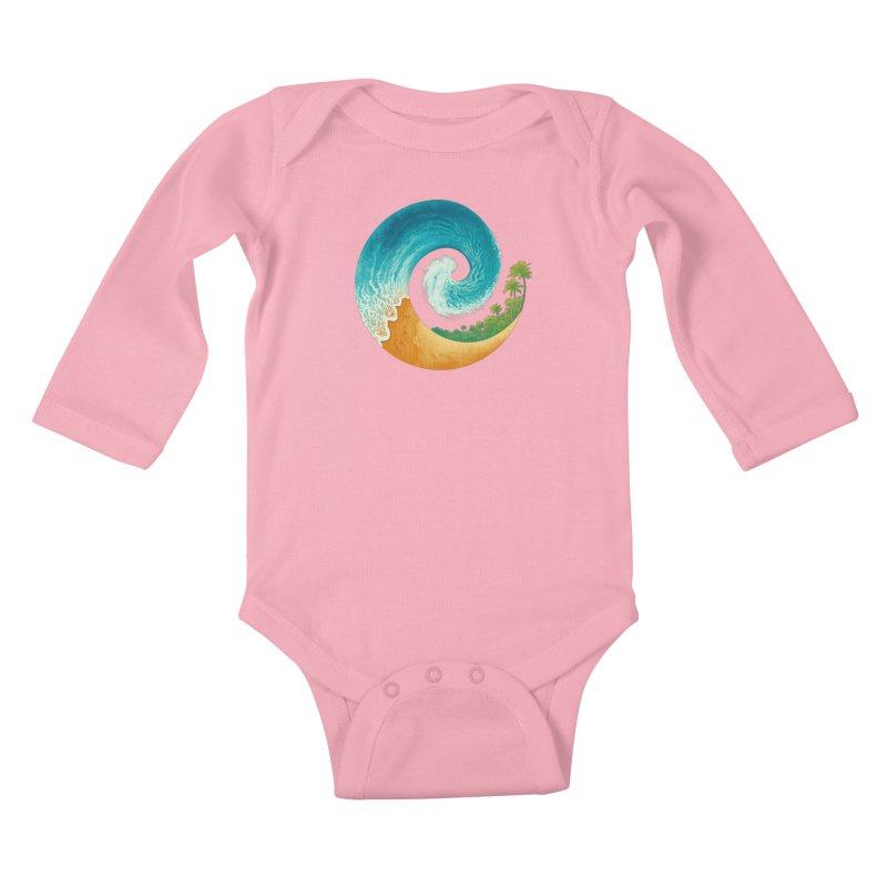 Spiral Beach Kids Baby Longsleeve Bodysuit by Waynem