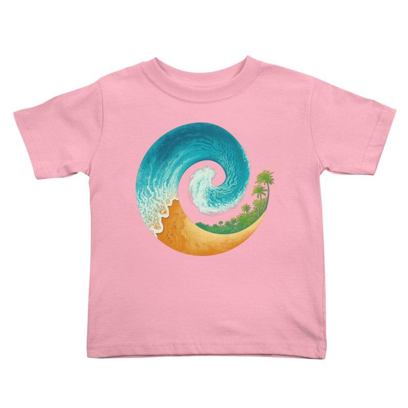 Spiral Beach Kids Toddler T-Shirt by Waynem