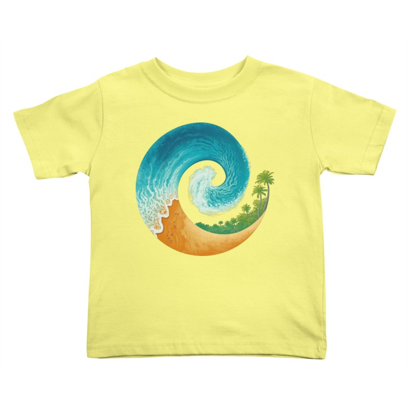Spiral Beach Kids Toddler T-Shirt by Waynem