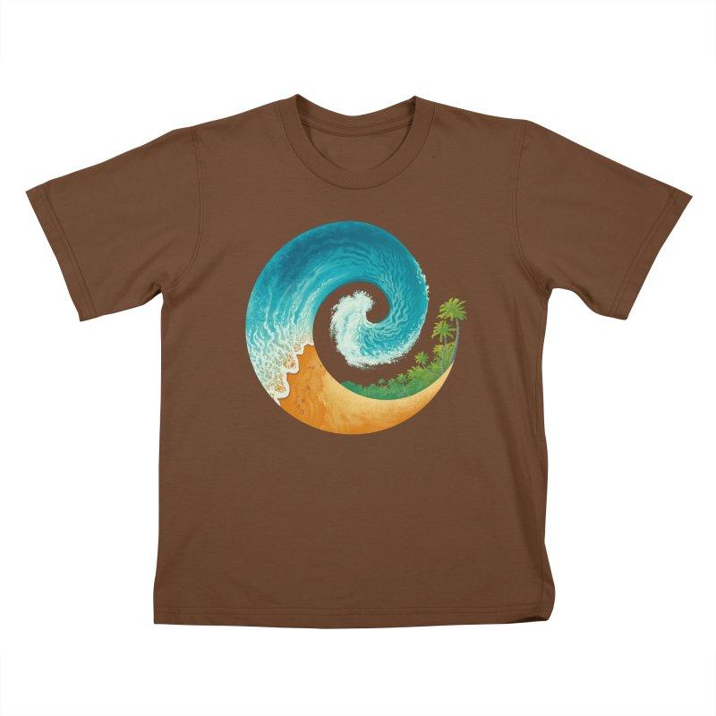 Spiral Beach Kids T-Shirt by Waynem