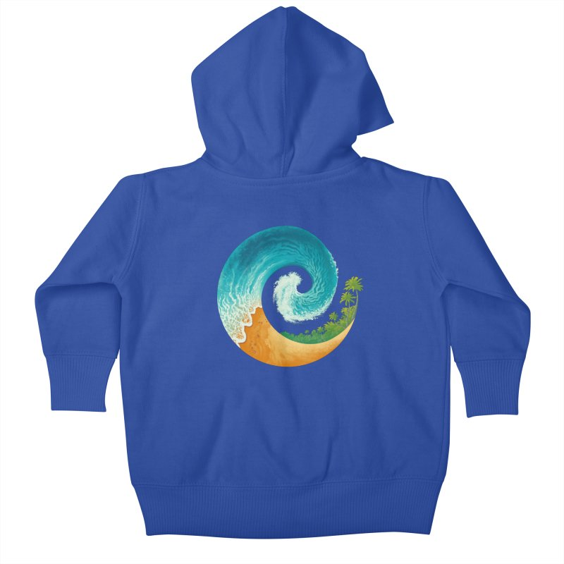 Spiral Beach Kids Baby Zip-Up Hoody by Waynem