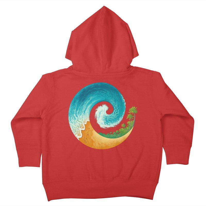 Spiral Beach Kids Toddler Zip-Up Hoody by Waynem