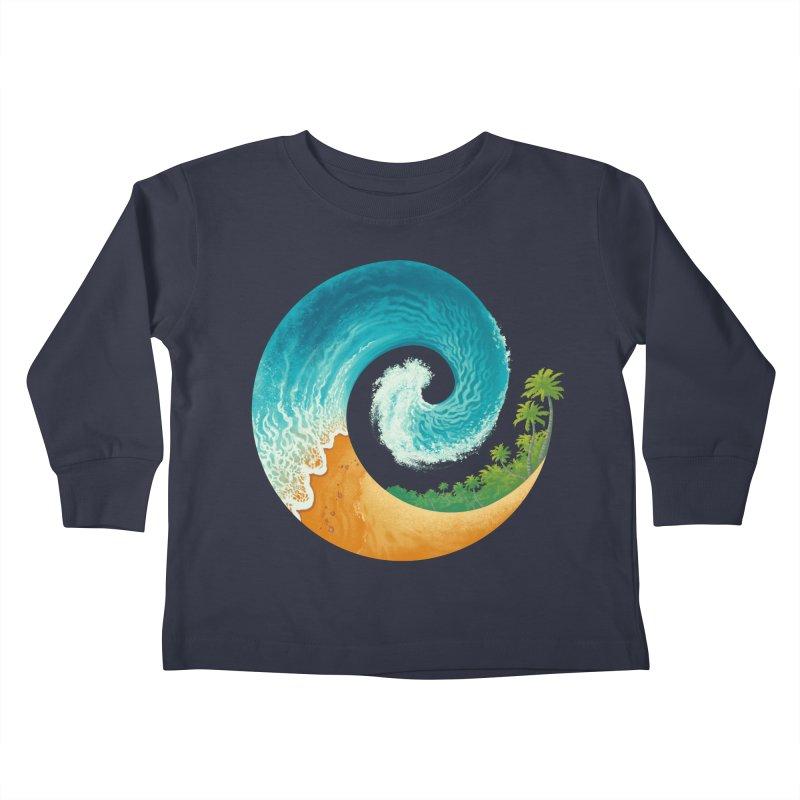 Spiral Beach Kids Toddler Longsleeve T-Shirt by Waynem