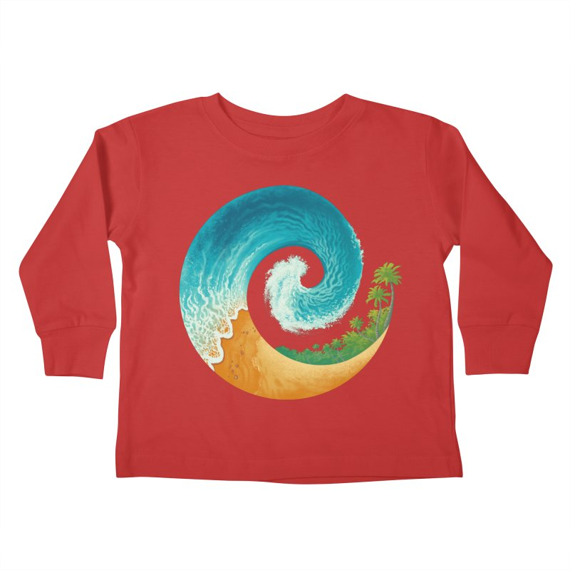 Spiral Beach Kids Toddler Longsleeve T-Shirt by Waynem