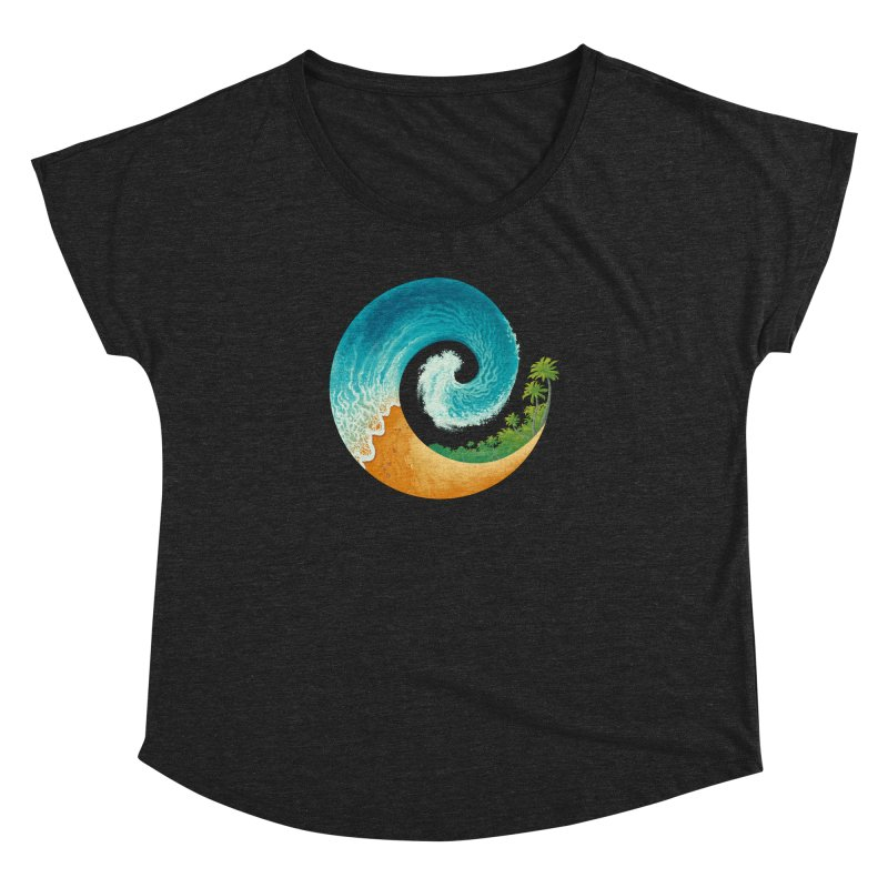 Spiral Beach Women's Dolman Scoop Neck by Waynem